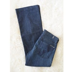 7FAM 28 x 30 Dojo Jeans Wide Leg Dark Wash
